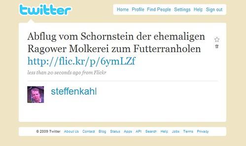 Twitter - steffenkahl- Abflug vom Schornstein der ...