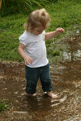 lovin' the water puddles