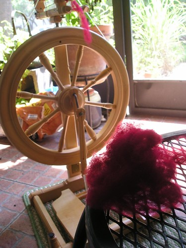 Tour de Fleece spinning, Day 2