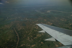 MAS 3 (demund) Tags: sky clouds plane river flying mas scenery cambodia wing malaysia phnompenh mekong malaysiaairlines