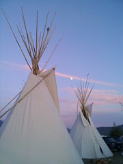 moon rise over teepees (flyfishdude) Tags: moon montana native celebration nativeamerican moonrise 2009 powwow teepees tipis nativeamerica arlee arleepowwow 111tharleecelebration 2009arleepowwow
