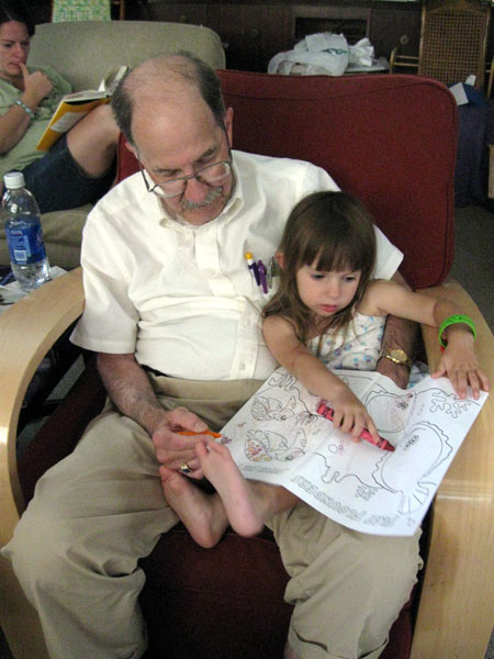 Dad and Niece Coloring
