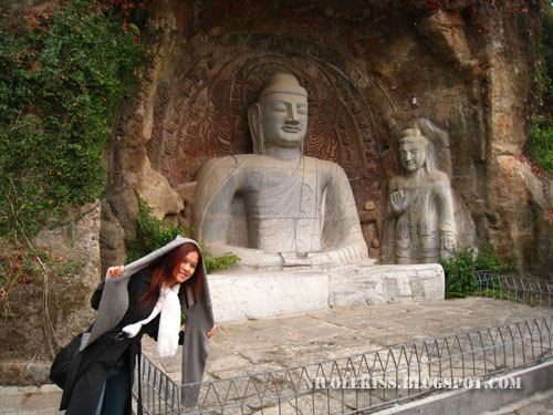 nicole and leshan grand buddha statue 3