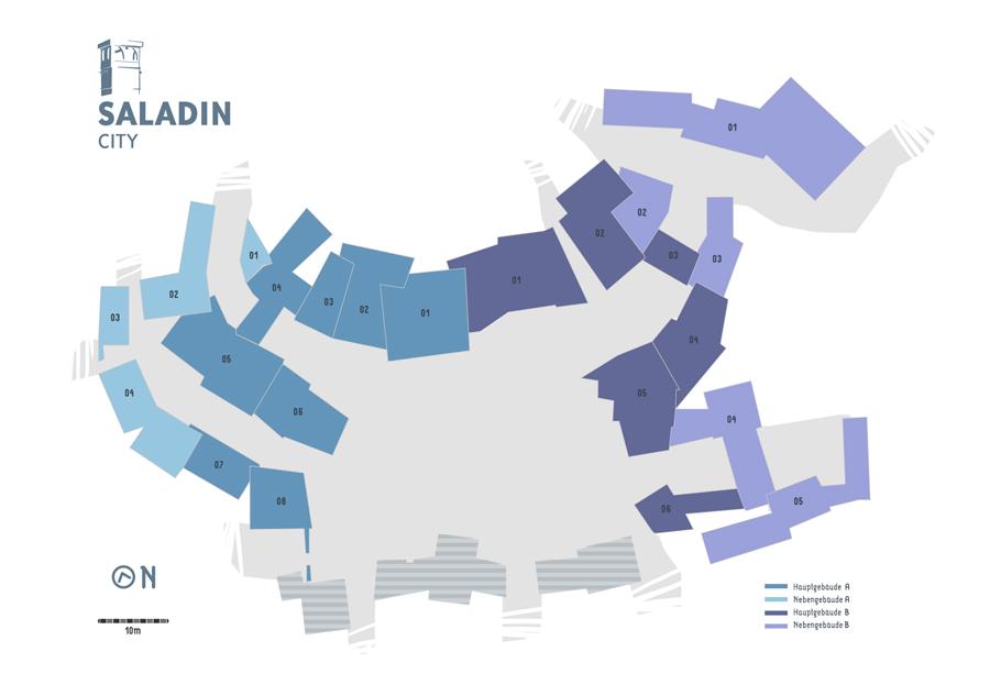 textur lageplan - saladin city