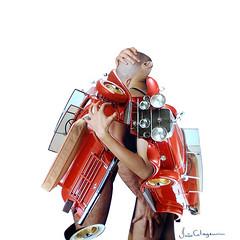 "João Colagem - 2004 - ""The lovers"" - Rotterdam (João Colagem) Tags: london art car brasil digital paper fan rotterdam pessoas gallery arte cola handmade collages glue famous thenetherlands galerie human fantasy fantasia idol carro papel colagem papier goiânia holand 拼貼 fames joãocolagem"