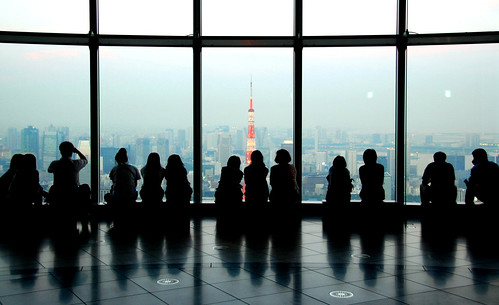 tokyo tower from mori building
