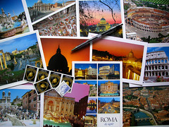 Sending out some from Rome... (Storm Crypt) Tags: italy rome roma pen writing cards europa europe italia post roman basilica postcard structures stamp colosseum souvenir trevifountain gift postcards present postal stpeterssquare piazzanavona sistinechapel colosseo stpetersbasilica thespanishsteps tiberriver thecolosseum fountainoffourrivers castelsaintangelo viadeconsolacion