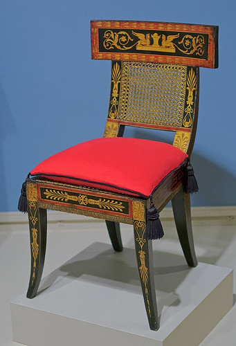 Chair, by Benjamin Henry Latrobe and George Bridport, American, 1808, at the Saint Louis Art Museum, in Saint Louis, Missouri, USA