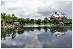 Disney Animal Kingdom (Ronaldo F Cabuhat) Tags: trip travel trees vacation cloud mountain lake reflection green water landscape fun photography orlando pond scenery view ride image disneyland magic joy picture pic scene disney fresh disneyworld fantasy photograph wonderland themepark darkclouds fantasyland waltdisney waterreflection expeditioneverest wideview snowcap disneyanimalkingdom themeparkride snowcappedmountain canonefs1755mmf28isusm canoneos50d disneyexpeditioneverest cabuhat canoneosd50 orladoflorida