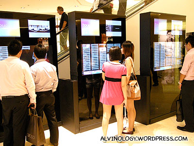 Touch-screen mall directory - this should be the first in Singapore