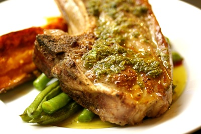grilled lamb chop with salmoriglio sauce-2