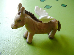 sculpy angel donkey