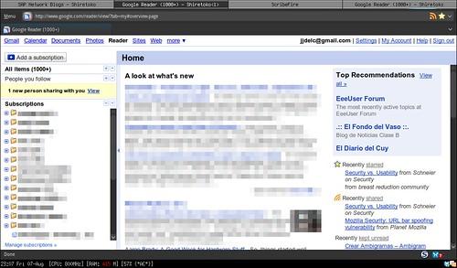 Google reader netbook optimized