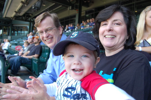 Baseball with Nana and Grandpa!