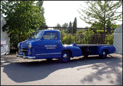Mercedes-Benz Rennabteilung Auto Transporter (Chris Wevers) Tags: auto 1954 panasonic mercedesbenz dmc transporter fz50 rennabteilung chriswevers