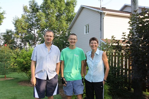 Jean-Michel, Jean-Baptiste, and Annick in Sainte Foy, Quebec.