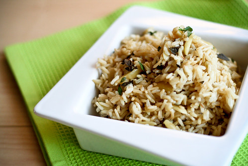 Toasted Coconut & Almond Rice with Mint