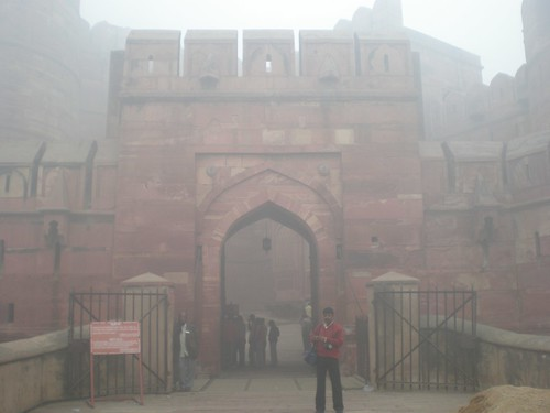 Agra Fort outer wall