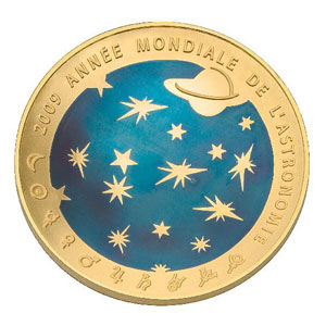 APOLLO 11 / ANNEE MONDIALE DE L'ASTRONOMIE 2009 / FRANCE 200 EUROS OR