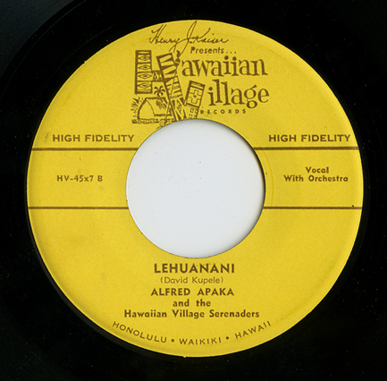Hawaiian Village Records label_tatteredandlost