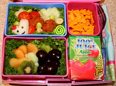 Lunch 8.25.2009 (Bunches and Bits {Karina}) Tags: vegetables fruit lunch laptop fresh bento