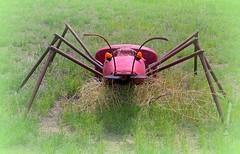 Metal spider (mragan) Tags: spider picnik metalart nikoncoolpix8800 northwestkansas
