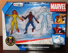 Picture 030 (Action Figure Blues) Tags: spiderman iceman marvel universe firestar