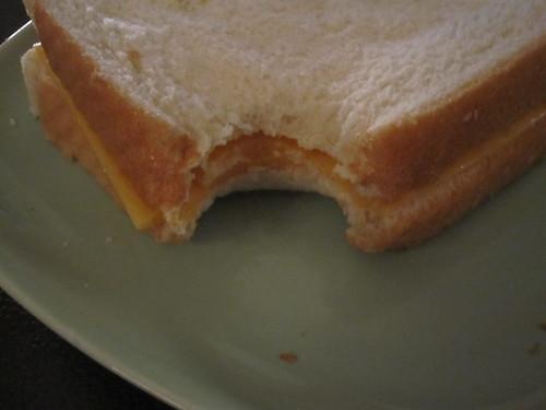 Schoolgir-style cheese sandwich