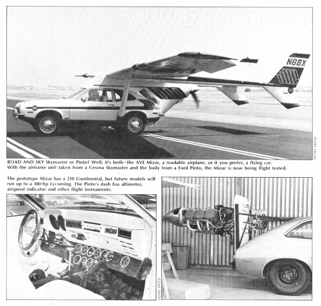 AVE Mizar Flying Ford Pinto,1973