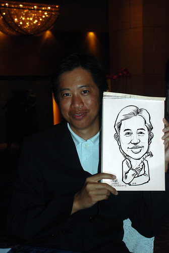Caricature live sketching for The Law Society of Singapore - 3