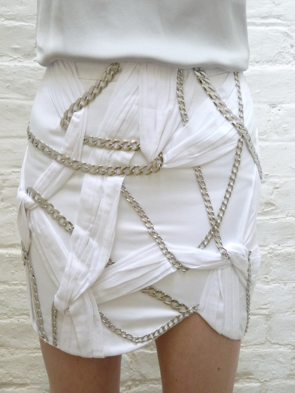 Afshin Feiz Summer 2009 chain skirt 3