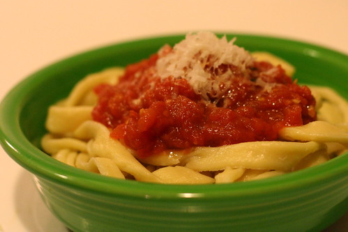 Pasta and Marinara Sauce from Scratch