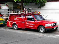 Ford Ranger Fire Tender Outside Wat Pho