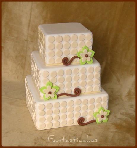 Modern Flower Wedding Cake