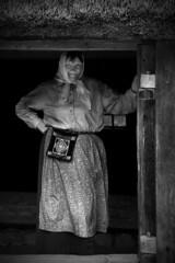cozy days (Corto Maltes) Tags: wood old woman house blanco home grey gris casa mujer madera woods estonia y mayor grandmother napkin negro vieja straw antigua abuela anciana paja antiguo tallin grandmom pañuelo delantal سكس