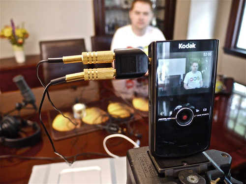 Kodak Zi8 with Dual Lav Mics