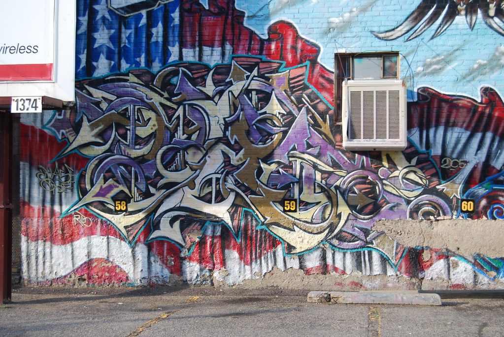 Graffiti Piece Denver Colorado.