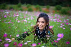 Yasuka With Cosmos (aeschylus18917) Tags: flowers woman flower macro cute nature girl beautiful smile 50mm nikon pretty purple d f14 nikkor 花 asteraceae cosmos nikkor50mmf14d 50mmf14d cosmosbipinnatus asterales heliantheae yasuka 50mm14d d700 ダニエル danielruyle aeschylus18917 danruyle druyle ルール ダニエルルール