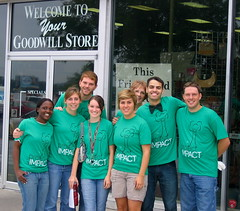 Project Impact Volunteers at Goodwill