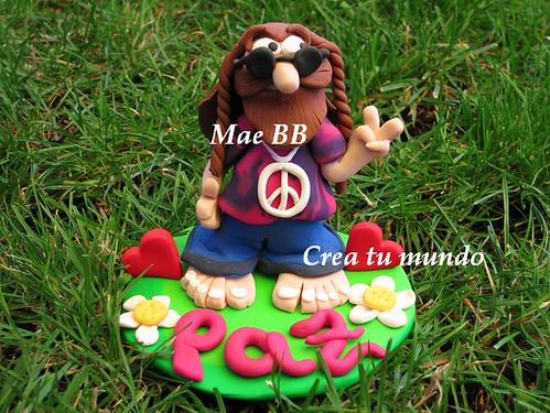 amor y paz hippie. Hippie Fimo. Paz y amor! :)