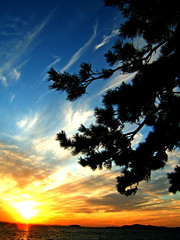 Sea and sky and sunset 4 (lain_the_wired) Tags: sunset sea sky cloud e510