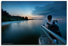 """The Photographer"" :: DRI'ed-Punggol Beach (alner_s) Tags: park longexposure bridge sunset people beach landscape landscapes nikon singapore seascapes sigma punggol bluehour 1020mm blending sigma1020mm d90 digitalblending punggolbeach alners alemdagqualityonlyclub garbongbisaya alnerssuello insurektos alnersphotography"