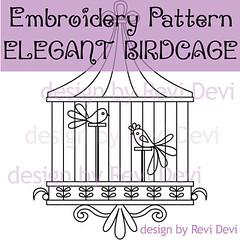 Elegant Birdcage (revi1001) Tags: birdcage etsybirdiebirdanimalnaturewhimsicalrevi1001patterndiyhomedecorillustrationoutline