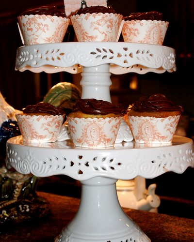 Toile Cupcake Covers