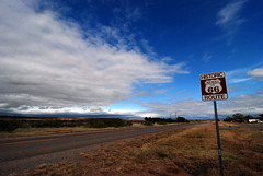 Historic Route 66 in New Kirk, New Mexico