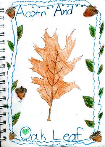 Oak Leaf & Acorn (by Zippy age 9)