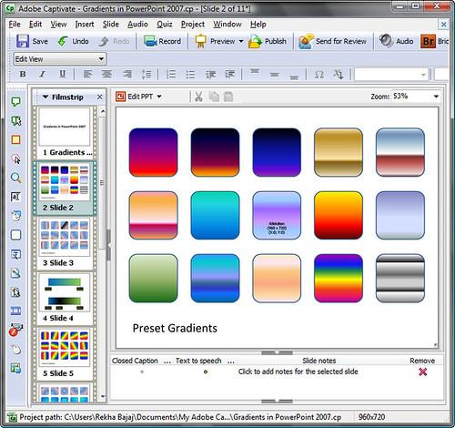 Edit View in Adobe Captivate