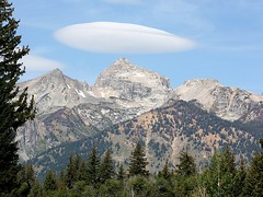 A Lenticular Cloud (donsutherland1) Tags: sky cloud mountains nature landscape wyoming lenticularcloud grandtetonnationalpark bej altocumulusstandinglenticularis anawesomeshot forstudents goldstaraward forschools
