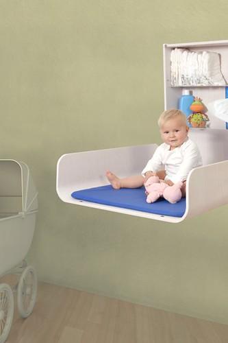 Muebles cambiadores para bebé de pared