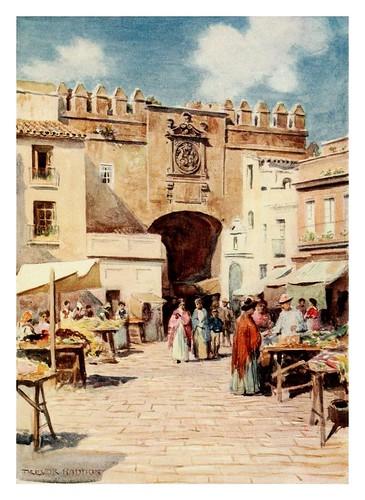 004-Sevilla La Puerta del Aceite-Southern Spain 1908- Trevor Haddon